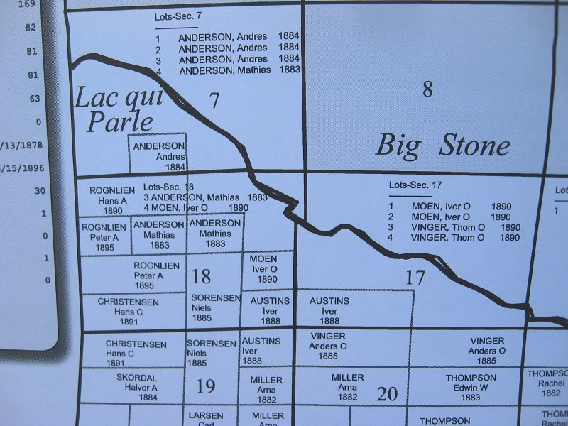 Family Maps of Lac qui Parle County Minnesota, 306 pgs