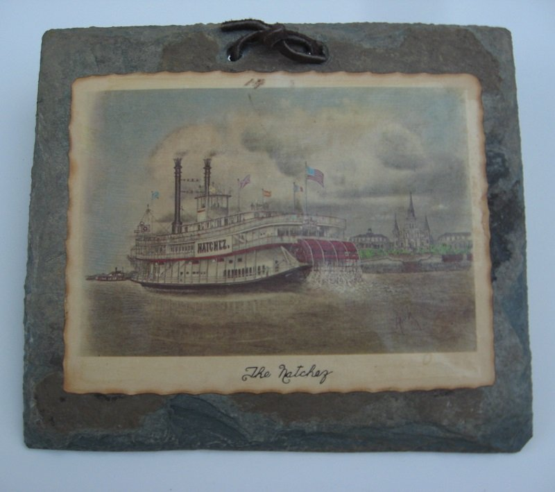 The Natchez Paddleboat on 200 year old Slate Roofing Tile