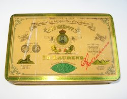 Ed. Laurens Le Khedive Cigarette Tin, 1920-40s, NY Tax Stamp