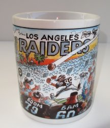 Los Angeles Raiders, not Oakland, Coffee Cup, NFL