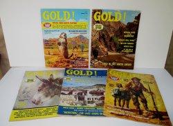 Gold Magazine, 5 issues, 1971 - 1974, Treasures Mines