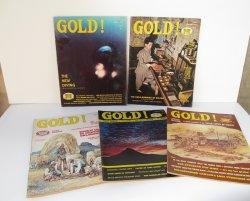 Gold Magazine, 5 issues, 1976, 1977, Treasures Mines