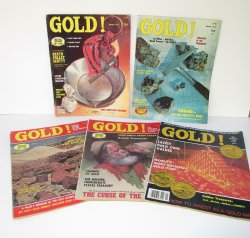 Gold Magazine, 5 issues, 1975, Special Issue, Treasures Mines