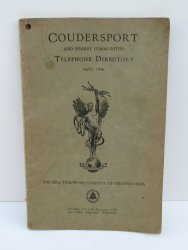 Coudersport Pennsylvania PA 1946 Telephone Directory