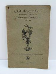 Coudersport Pennsylvania PA 1946 Telephone Directory