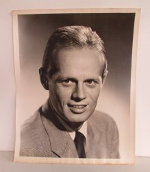 Actor Richard Widmark, signed autographed 7x9 inch photo