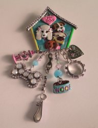 Lunch At The Ritz 2 Go, Puppy Love Brooch Pendant