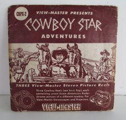 View Master, 3pk Cowboy Star Adventures, 1953
