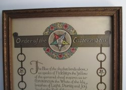 '.Order of the Eastern Star.'