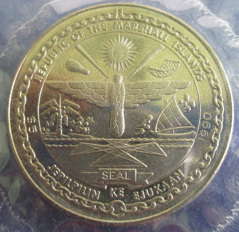 Battle of Britain, Marshall Islands, 5 Dollar Coin, 1990