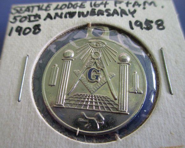 Masonic Lodge 164 Seattle Washington 50th Anniversary, Front