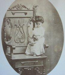 Mlle Coretta, Famous Ringling Circus Midget, Antique Photo