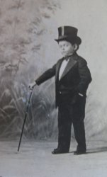 Little Lord Robert, Smallest Circus Man on Earth 1907 Photo