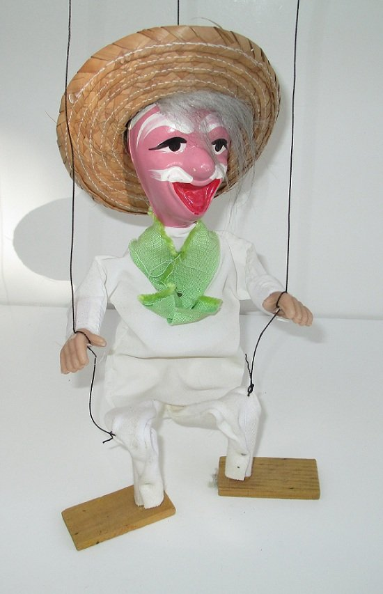 Old Mexican Gentleman Puppet, circa 1950s