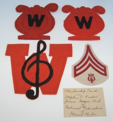 Williams Arizona High School, 4 Band Uniform Patches, 1940s