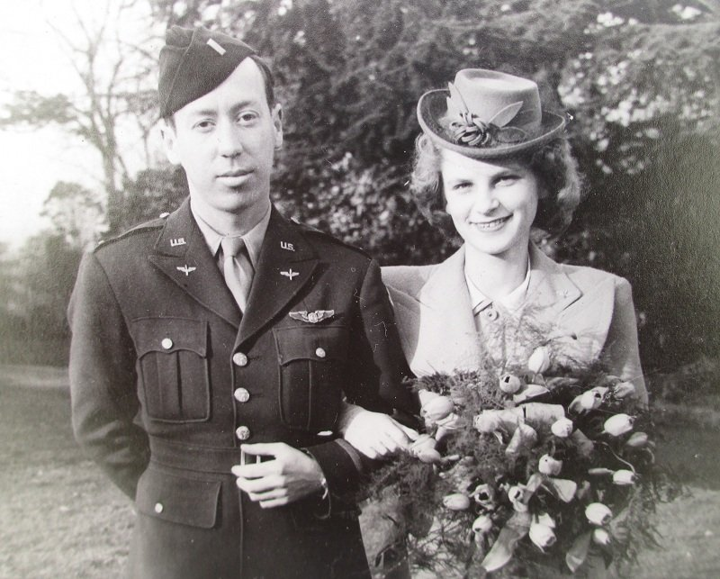 U.S. Serviceman 1940s Wedding Photos, Nottingham England