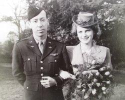 U.S. Serviceman 1940s Wedding Photos, Nottingham England