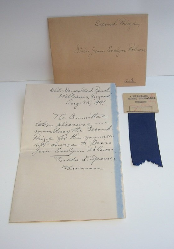Blue Ribbon Award for Williams AZ Hobby Show, 1941, Polson