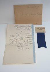 Blue Ribbon Award for Williams AZ Hobby Show, 1941, Jean Polson