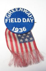 Greenway Field Day Pin, 1936 Phoenix AZ, Track, USC Dominates