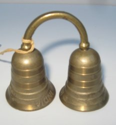 Bells of Sarna, Double Brass Wind Bell, Dated 1951