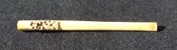 Cigarette Holder, Pre 1920, Ivory Color Asian Carved, 6 inch
