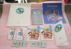 Walt Disney 1991 Travel Co Folder, Includes Visitor Gifts