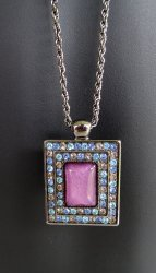 '.FI Rhinestone Pendant Necklace.'