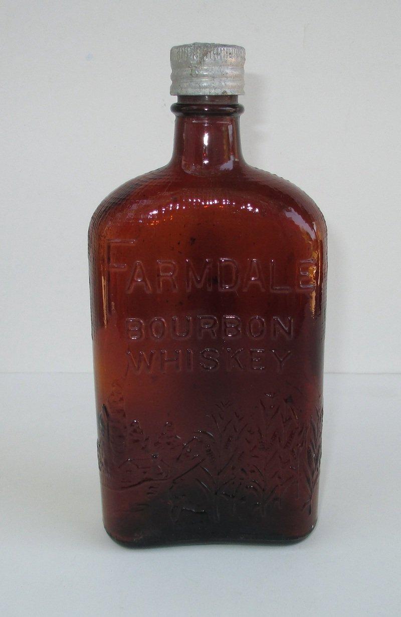 Antique Farmdale Whiskey Bottle C 1900 Vancouver Canada