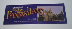 Disneyland, The New Fantasyland Passport Ticket dated 1983