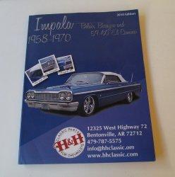 Chevrolet Impala Belair Biscayne El Camino 1958-1970 Parts Catalog