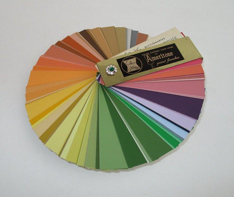 Automotive Paint Colors >> Ameritone Color Key Fan Dictionary Number 2, 1963