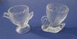 '.Glass bird egg cups. Set of 6.'