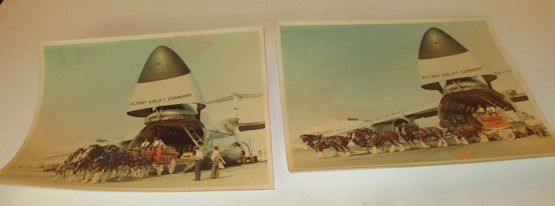 2 photos, 8 by 10 inches. Possibly at Edwards Air Force Base.