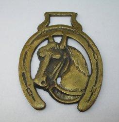 Horse Head Saddle Decoration Medallion, 1950s England