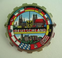 Deutschland Car Grille Badge, Fritz Reu Co.