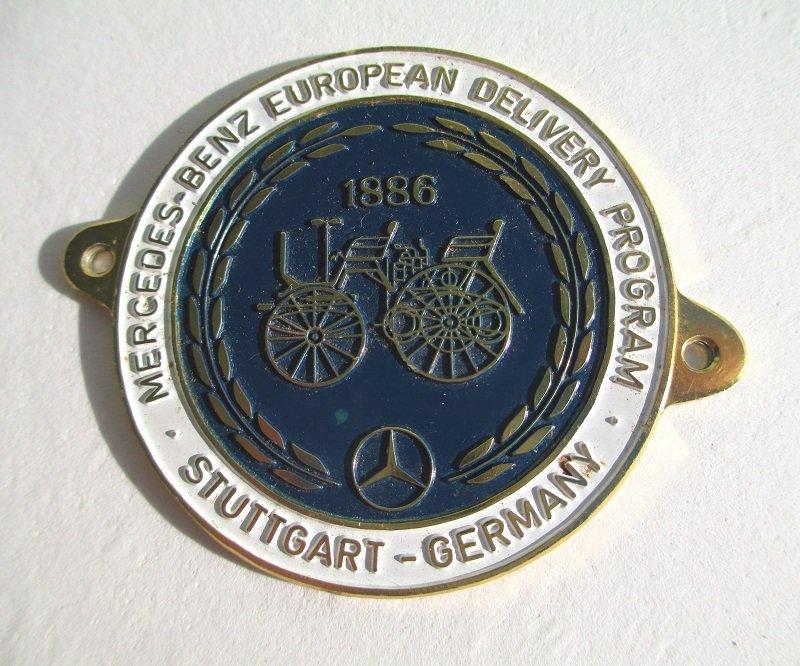 Mercedes European Delivery >> Mercedes Benz European Delivery Program Car Badge