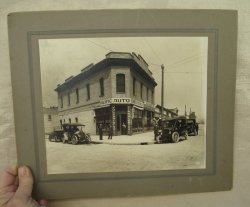 Antique 11x13 Photo, Tire Store, Automobiles, Mr. Sawyer