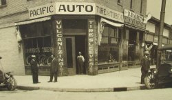 '.Antique photo, Pacific Tire.'