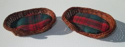 Dollhouse Dog Beds, Size Large 5 inch, Qty of 2, New