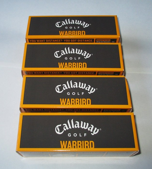 Callaway Warbird Golf Balls, 4 pks of 3, 12 total