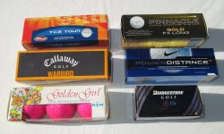 Misc Pack of Golf Balls, 6 pks, Callaway, Pinnacle, TC2, Nike