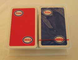Esso Playing Cards, 2 Deck Set, 1 Unopened, Mid 1970s