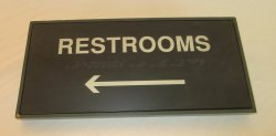 Restrooms Sign, Wall Plaque, English and Braille