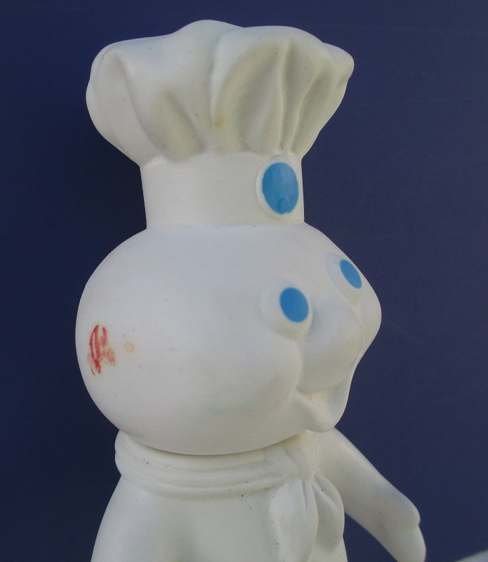 Pillsbury Doughboy Rubber Doll, 7.5 inch, Dated 1971. Head turns. Squeezable