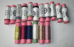 Lot of 17 Metallic Threads, Kreinik Balger