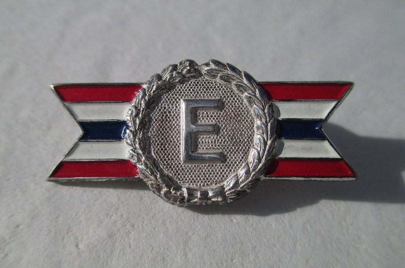 Wwii Army Navy E Award Pin Sterling Silver Pre 1945