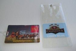 Wells Fargo SF 49ers Bag Tag, Candlestick Park Ticket Sleeve