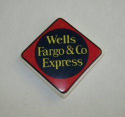 Wells Fargo Bank Magnets, 5 pieces, 1.75 inch square