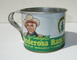 Ben Cartwright's Ponderosa Ranch Tin Cup, 1960s-1970s